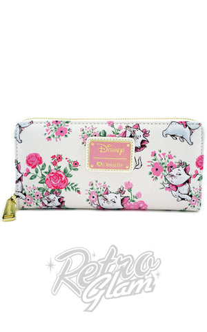 Loungefly Disney Marie Floral all over print Wallet front