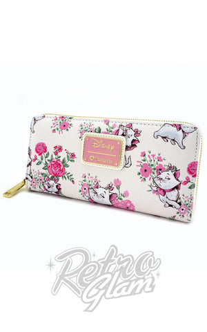 Loungefly Disney Marie Floral all over print Wallet front side