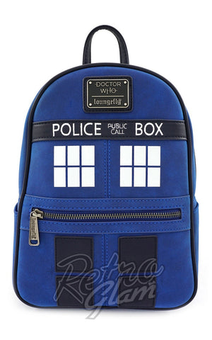 Loungefly Doctor Who Tardis Mini Backpack FRONT