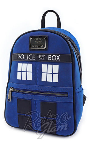 Loungefly Doctor Who Tardis Mini Backpack SIDE