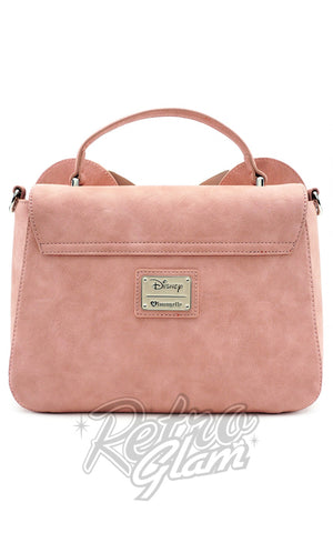Loungefly Minnie Ears & Bow Pink Crossbody Bag back