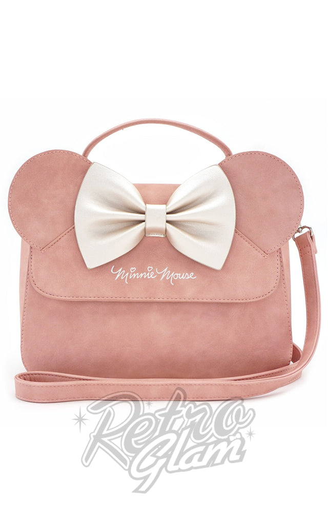 Loungefly Minnie Ears & Bow Pink Crossbody Bag