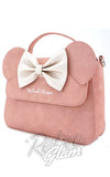 Loungefly Minnie Ears & Bow Pink Crossbody Bag font