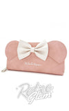 Loungefly Minnie Ears & Bow Pink Wallet front