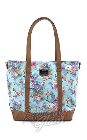 Loungefly Stitch Tropical Floral Print Tote