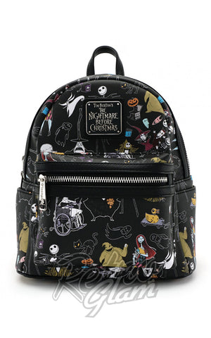 Loungefly Disney Nightmare Before Christmas All Character Mini Backpack front