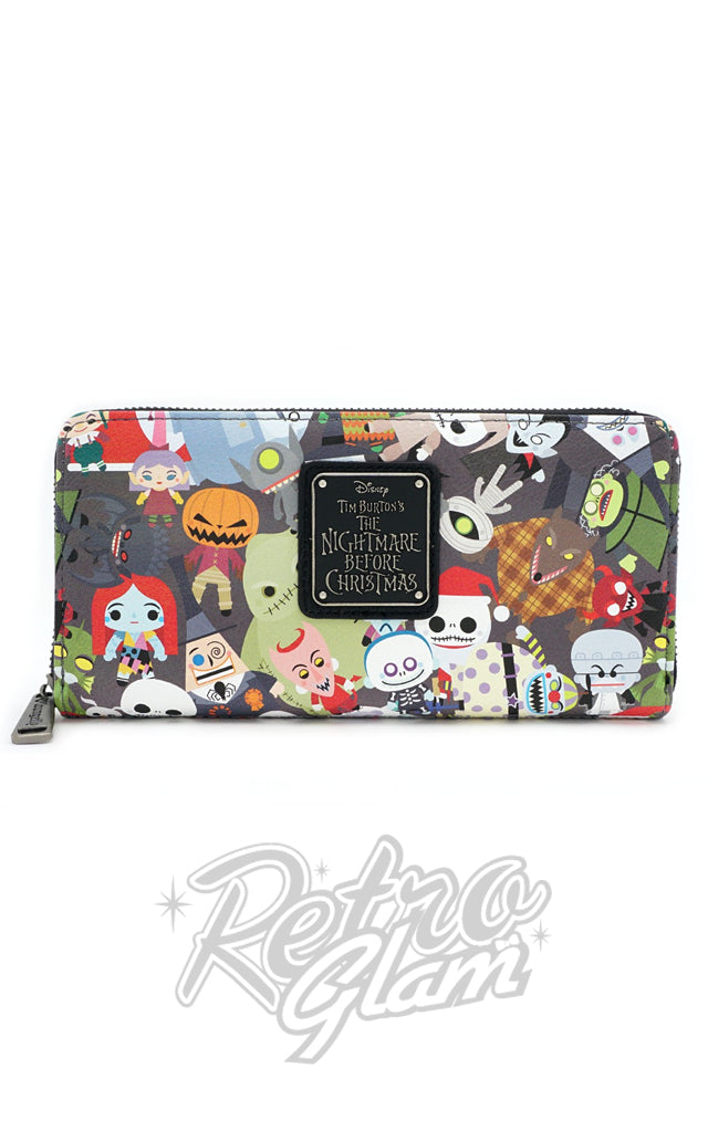 Loungefly Disney Nightmare Before Christmas Chibi Character Wallet