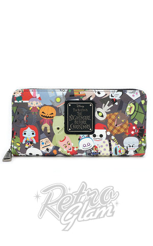Loungefly Disney Nightmare Before Christmas Chibi Character Wallet front