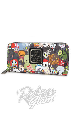 Loungefly Disney Nightmare Before Christmas Chibi Character Wallet side