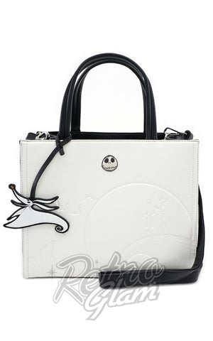 Loungefly Disney Nightmare Before Christmas White Embossed Satchel