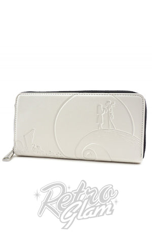 Loungefly Disney Nightmare Before Christmas White Embossed Wallet
