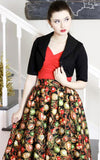 Retrolicious Madison Skirt in Ornaments Print