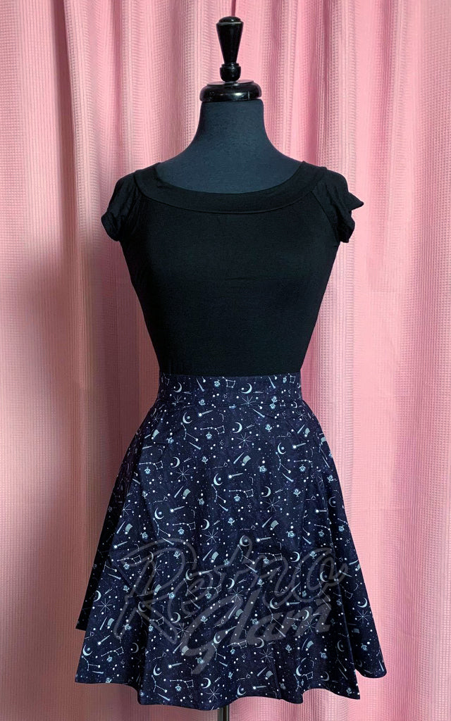 Retrolicious Skater Skirt in Nocturnal Print