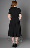 Sheen Black Embroidered Sadie Dress back
