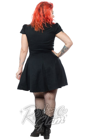 Sourpuss Check Dress in Hunter Green back
