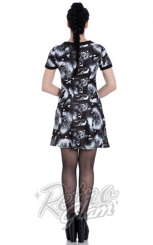 Hell Bunny Crows Nest Dress back