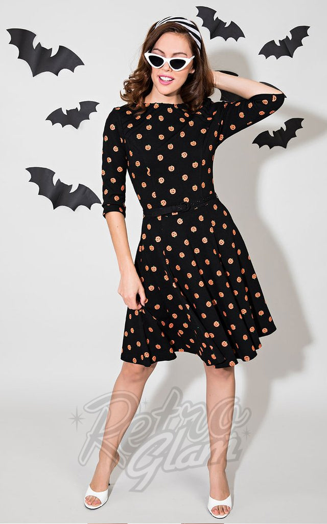 Unique Vintage Pumpkin Patch Dress