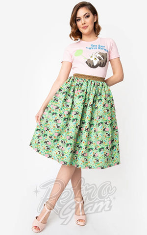 Unique Vintage X Little Golden Books Shy Little Kitten Swing Skirt