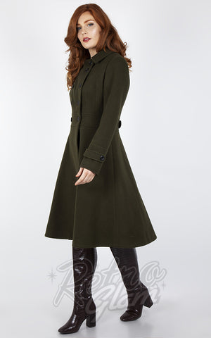 Voodoo Vixen Military Style Jacket in Green