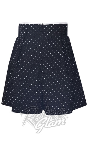 Voodoo Vixen Paulina Polka Dot High-Waist Shorts back