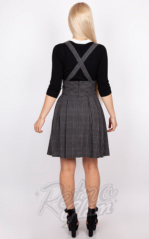 Jawbreaker Grey Tartan Suspender Skirt back