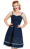 Voodoo Vixen Daisy May Denim Flared Dress front cropped Miss Victory Violet
