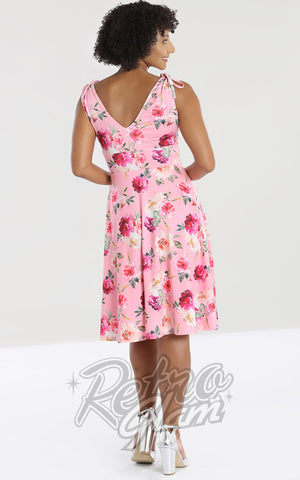 Hell Bunny Ana Rose Dress back floral