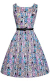 Lindy Bop Annie Dress in Modcloth Clever Cat Print