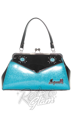 Sourpuss Backseat Baby Sputnik Purse in Blue