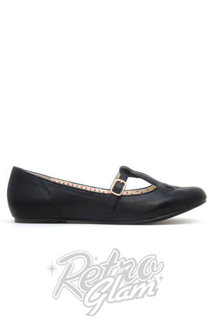 B.A.I.T Everline Mary Jane Flats in Black
