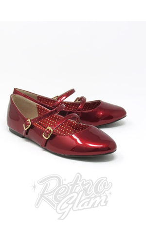 B.A.I.T Sinclair Shoes in Red Glass Patent