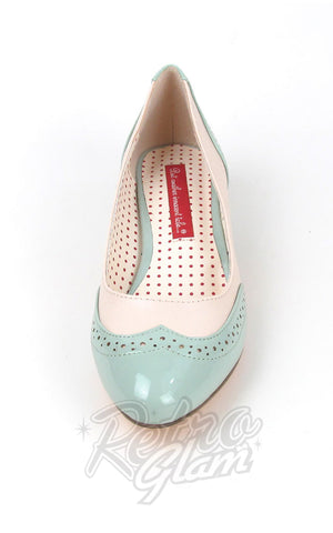 B.A.I.T Ida Shoes in Mint Green Two Tone saddle