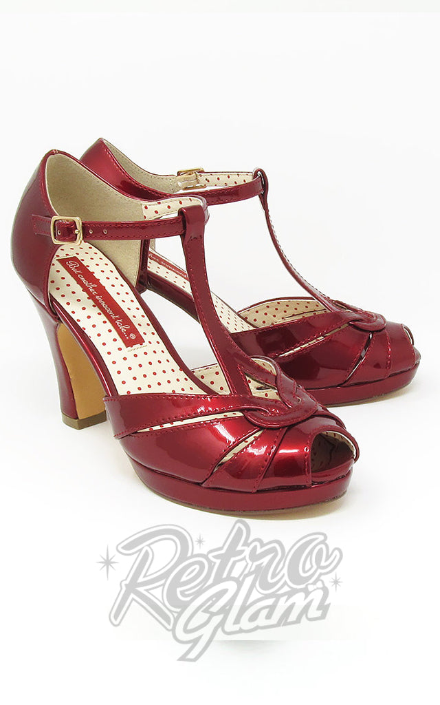 B.A.I.T Lacey Heels in Red Glass
