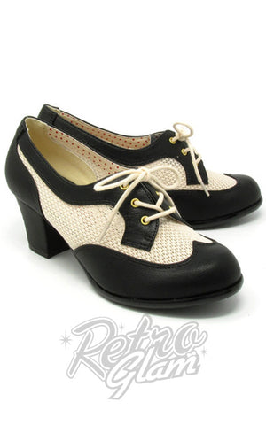 B.A.I.T Renna Shoes in Black & Cream 2 tone