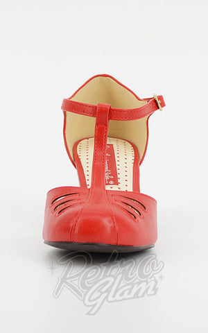 B.A.I.T Robbie Shoes in Matte Red t-strap