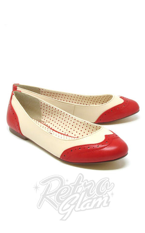 B.A.I.T Sarah Shoes in Red Two Tone