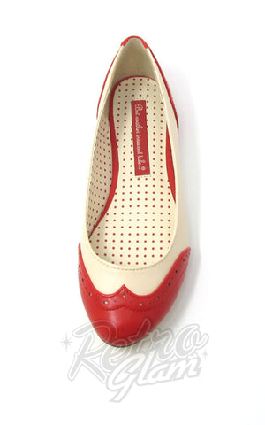 B.A.I.T Sarah Shoes in Red Two Tone side