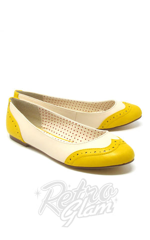 B.A.I.T Sarah Shoes in Yellow Two Tone