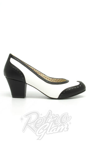 B.A.I.T Rolanda Shoes in Black and White 40s