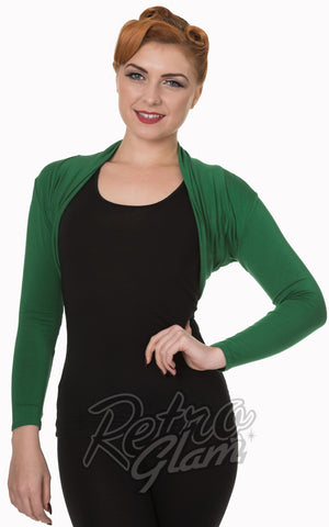 Banned Rockabilly Roxie Bolero in Forest Green