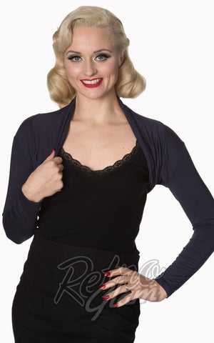 Banned Rockabilly Roxie Bolero in Night Blue