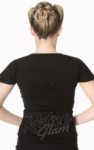 Banned She Who Dares Top in Black Back
