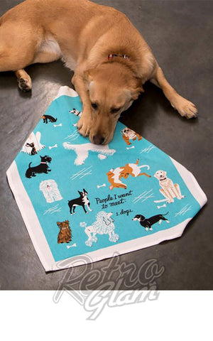 Blue Q People Dogs Dish Towel