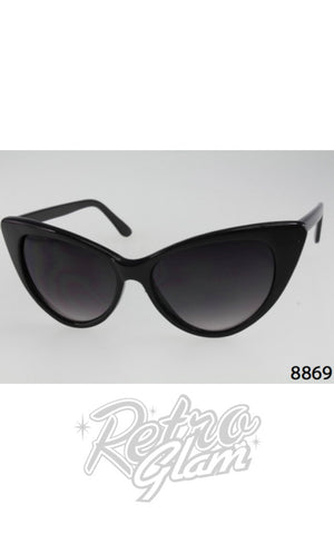 Cat Eye Sunglasses Black style 8869