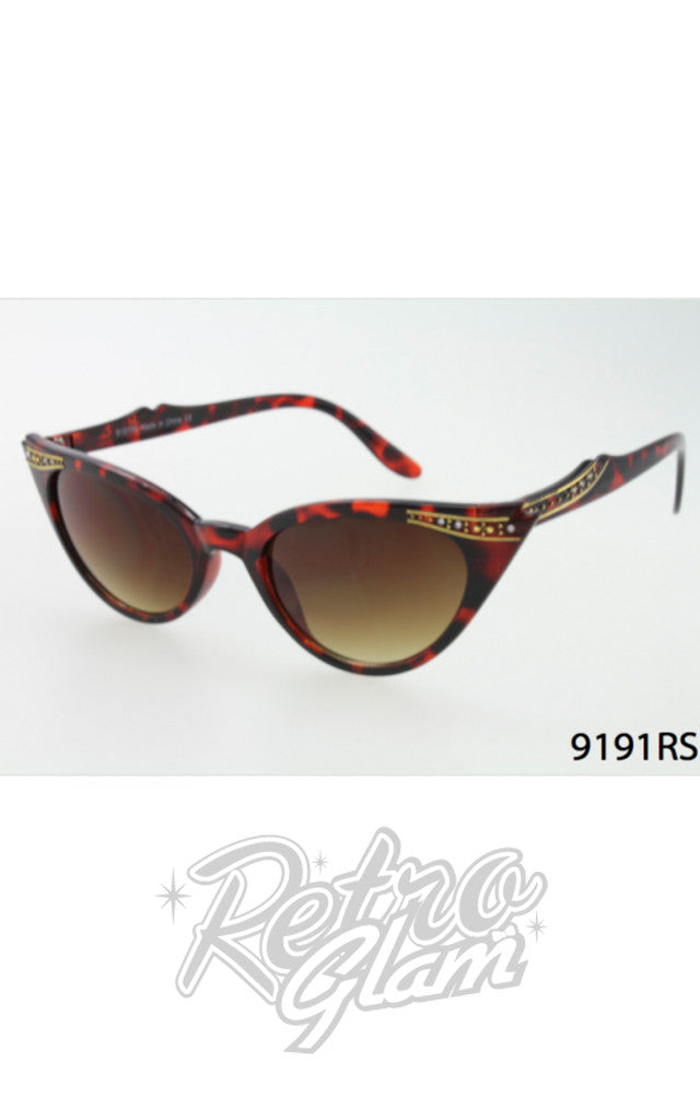 Cat Eye Sunglasses in Tortoise with Gold Trim