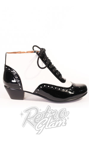 Chelsea Crew Pearla Boots in Black & White side