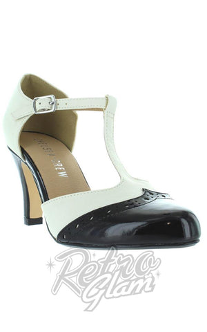 Chelsea Crew Gatsby Heels in Black and White