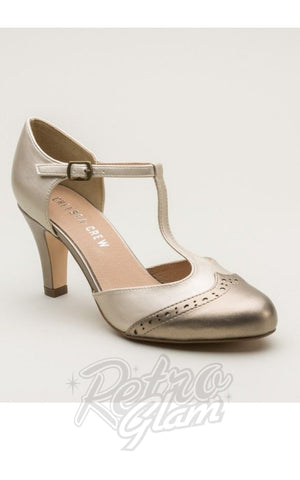 Chelsea Crew Gatsby Heels in Bronze and Gold