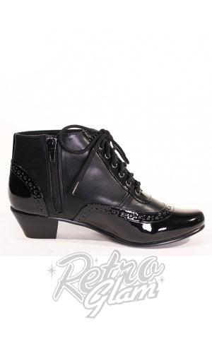Chelsea Crew Pearla Booties in Black zipper