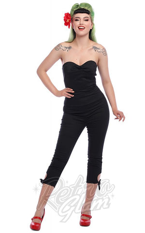 Collectif Black Anna Jumpsuit 50s